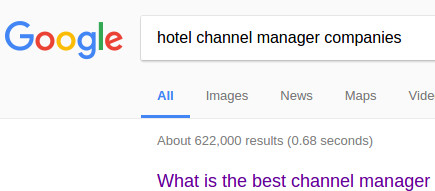 List of Channel Manager Companies on Google