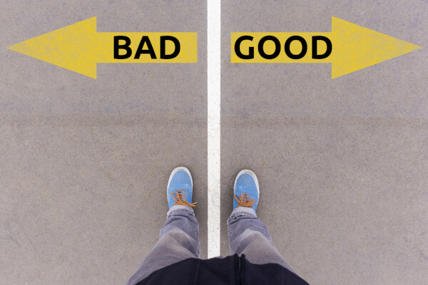 Choice between good and bad
