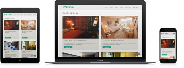 Simple design of a hotel website
